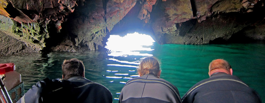 Inside a sea cave in Donegal