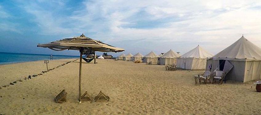 Royal tents at Marsa Shagra